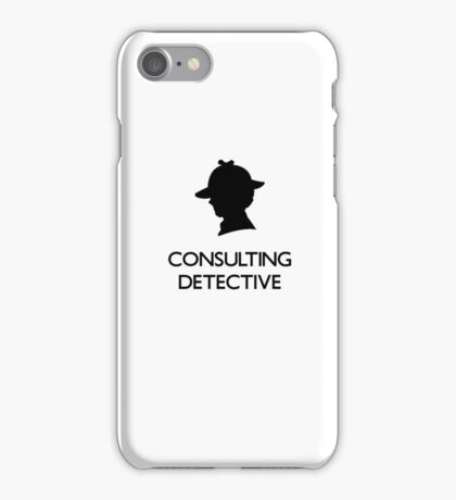 Sherlock Silhouette iPad/iPhone Case - White iPhone Case/Skin