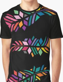 Stained Glass Feathers Graphic T-Shirt