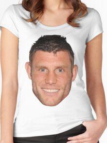 James Milner's Massive Head Women's Fitted Scoop T-Shirt