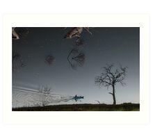 Into the night sky? Art Print