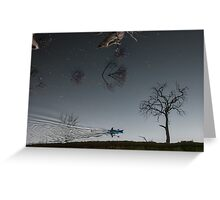 Into the night sky? Greeting Card