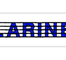 Clarinet Blue II Sticker