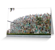Shutter Facade, Indonesia Greeting Card