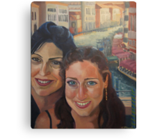 Perri and her mom Canvas Print