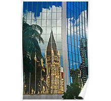 St. John's Anglican Cathedral in reflection Poster