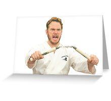 Johnny Karate Print Greeting Card