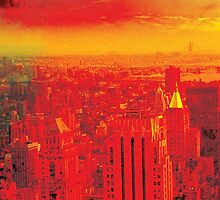 New York City Skyline (set 1 of 3) by Jeff Kaster