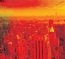 New York City Skyline (set 1 of 3) by Jeff Kaster