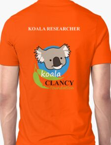 Koala Clancy Foundation - large logo researcher T-Shirt