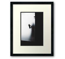 a ghost on 2d floor  Framed Print