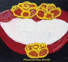 """""""Mischievous Smile"""" painting by Ruby's Daydreams"""