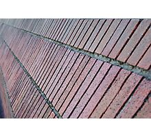 Angled brick wall perspective Photographic Print