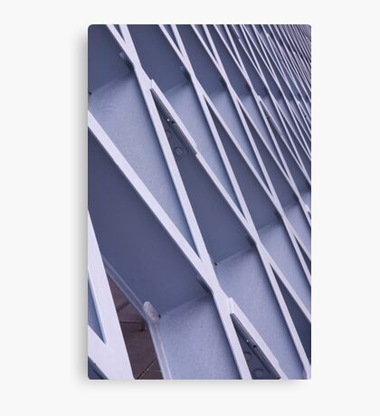 Steel Grid Structure Canvas Print