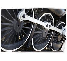 White wall Train wheels Poster