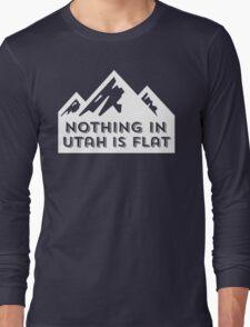 Nothing in Utah is Flat Big Peaks Design Long Sleeve T-Shirt
