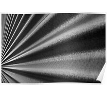 Converging Corrugated wall  Poster