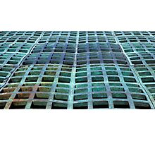 Green domed grating Photographic Print