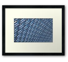 Blue ceiling skylights Framed Print