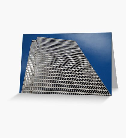Skyscraper Blue Sky Greeting Card
