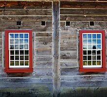 Two Old Red windows by bobkeenan
