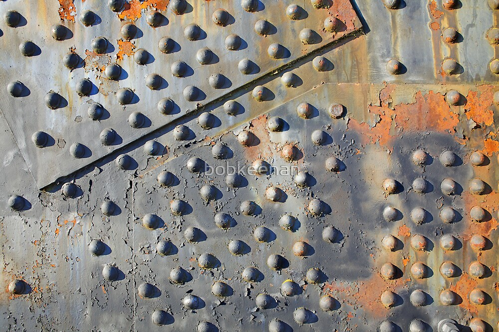 Old rusty rivets on Steel Bridge by bobkeenan