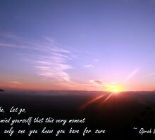 Breathe. Let go. by Renee Chamberlin