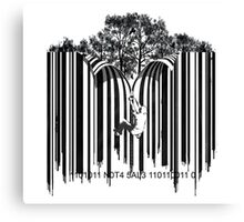 UNZIP THE CODE barcode graffiti print illustration Canvas Print