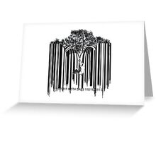 UNZIP THE CODE barcode graffiti print illustration Greeting Card