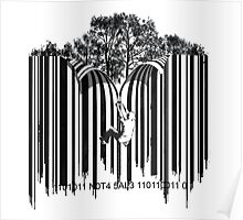 UNZIP THE CODE barcode graffiti print illustration Poster