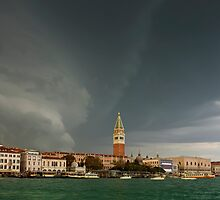 Huge Storm at The Grand Canal in Venice by kirilart