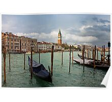 Grand Canal in Venice after storm Poster