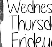 Youtuber Alfie Deyes days of the week  Sticker