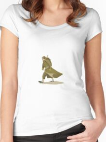 World War Two American Soldier Women's Fitted Scoop T-Shirt