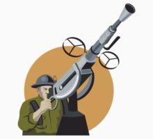 World War Two British Soldier Machine Gun T-Shirt