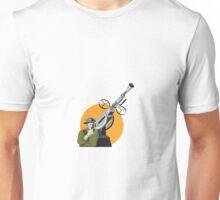 World War Two British Soldier Machine Gun Unisex T-Shirt