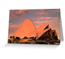 Opera House Sails in the Sunset Greeting Card