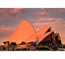 Opera House Sails in the Sunset Photographic Print