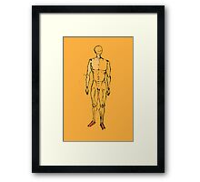 human figure sketch  Framed Print