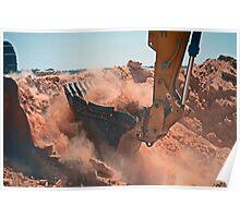Excavator (aka the power shovel) at work Poster