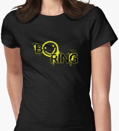 B☻ring Womens Fitted T-Shirt