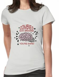 Zombies eat Brains VRS2 Womens Fitted T-Shirt