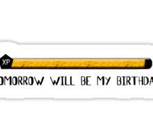 EXP BIRTHDAY Sticker