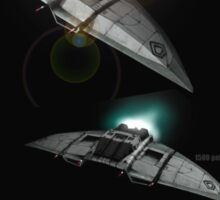 Cylon Raider Space Patrol Sticker