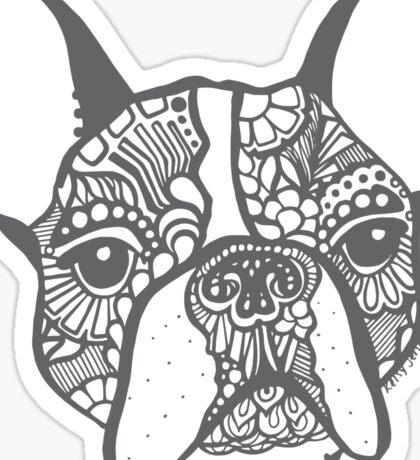 French_grey Sticker