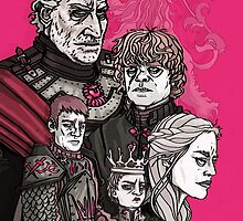 Lannister Family Portrait Game of Thrones by stolencomputer