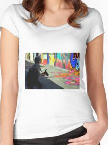 Getting The Right Angle Women's Fitted Scoop T-Shirt