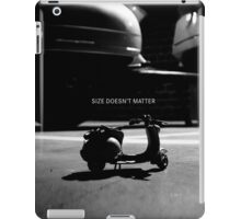 Size doesn't matter iPad Case/Skin