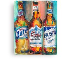 Miller Lite, Coors Light, Busch Light - Beer Art Print -  Canvas Print