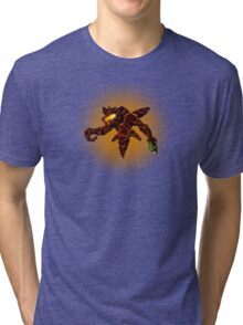 Sci-Fi Lava Alien from another world Tri-blend T-Shirt