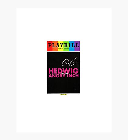Hedwig and the Angry Inch playbill with Darren Criss signature Photographic Print
